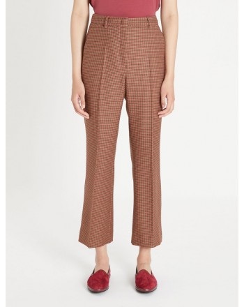 WEEKEND MAX MARA - LELLA Wool Cloth Trousers - Pied de Poule