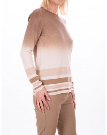 MAX MARA STUDIO - Maglia Zurigo in lana e cashmere - Cammello/Fango