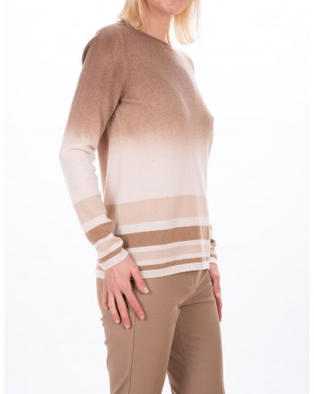 MAX MARA STUDIO - ZURIGO sweater in wool and cashmere - Camel/Mud