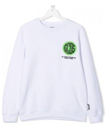 GCDS BABY - Felpa con stampa 028457 - Bianco