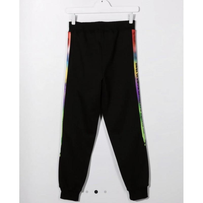 GCDS BABY - Pantaloni sportivi con stampa logo 028456 - Nero