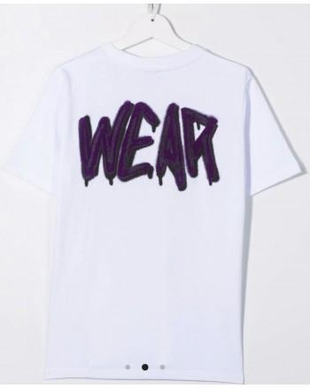 GCDS BABY - T-shirt con logo graffiti 028447 - Bianco