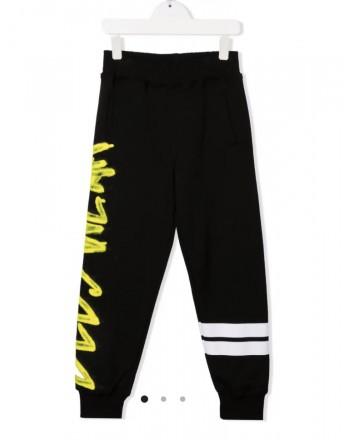 GCDS BABY - Pantaloni sportivi con stampa 028448 - Nero