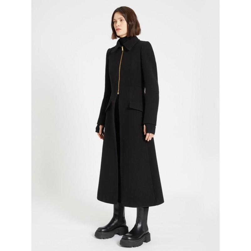 SPORTMAX - COLETT Redingote Zipper Coat - Black
