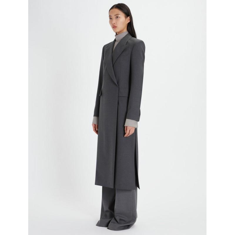 SPORTMAX  - MANNA Light Wool Dustcoat - Blended Grey