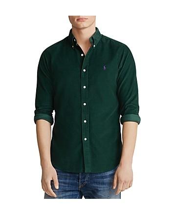 POLO RALPH LAUREN - Velvet striped shirt - Collage Green