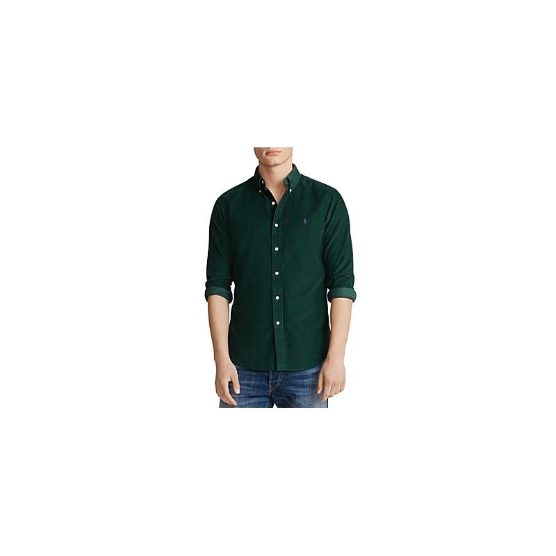 POLO RALPH LAUREN - Camicia a costine in velluto - Collage Green