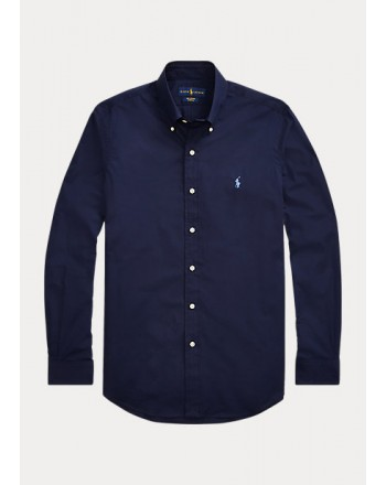POLO RALPH LAUREN - Slim-Fit poplin shirt 710792044 - Navy