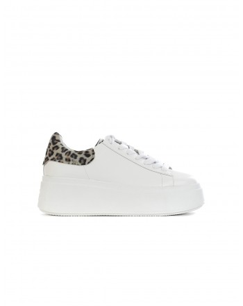 ASH - MOBY01 Sneakers - White/Animalier