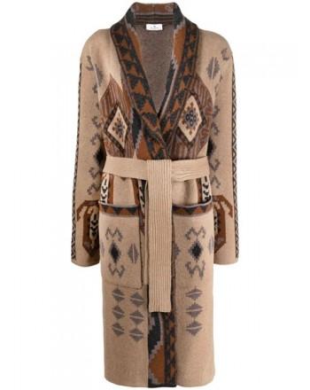 ETRO - PASADENA Long Cardigan Wool Knit- Multicolor
