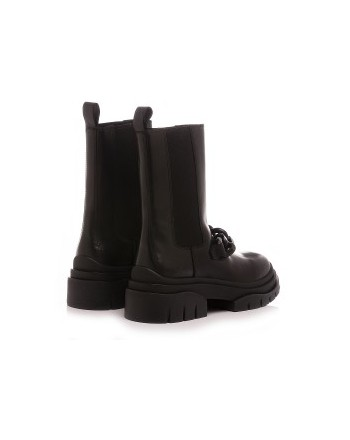 ASH - MUSTANG STORM CHAIN Leather Boots -Black