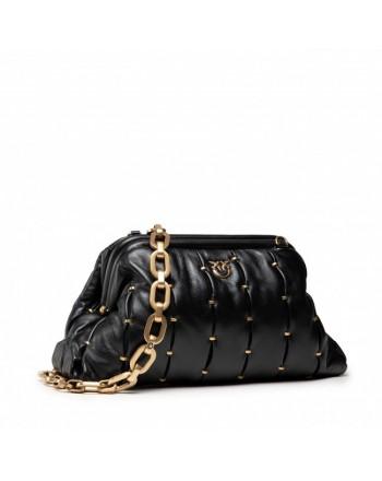 PINKO - MAXY CHAIN CLUTCH PINCHED  Bag  - Black