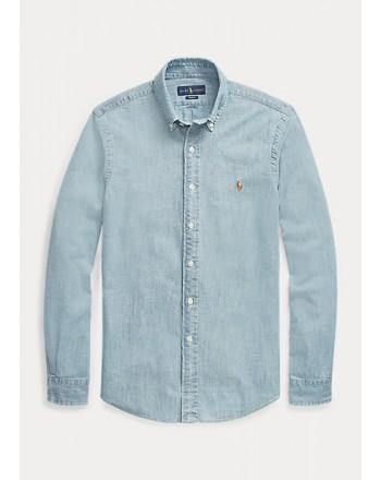 POLO RALPH LAUREN - Slim-Fit denim sport shirt 710548358 - Denim