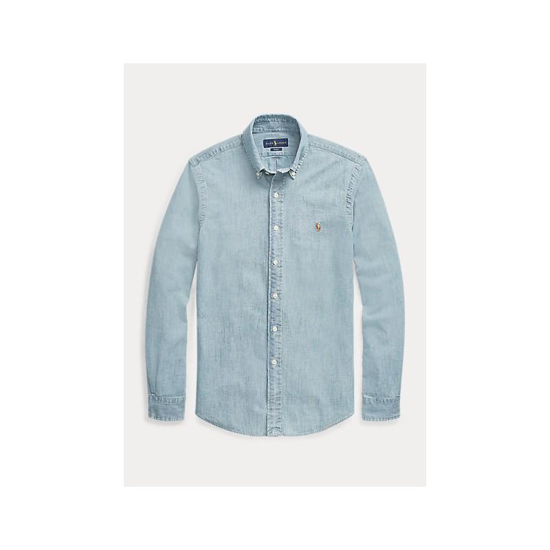 POLO RALPH LAUREN - Camicia sportiva in denim Slim-Fit 710548358 - Denim