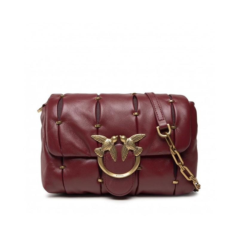 PINKO - LOVE MINI PUFF PINCHED CL. Bag - Dark red