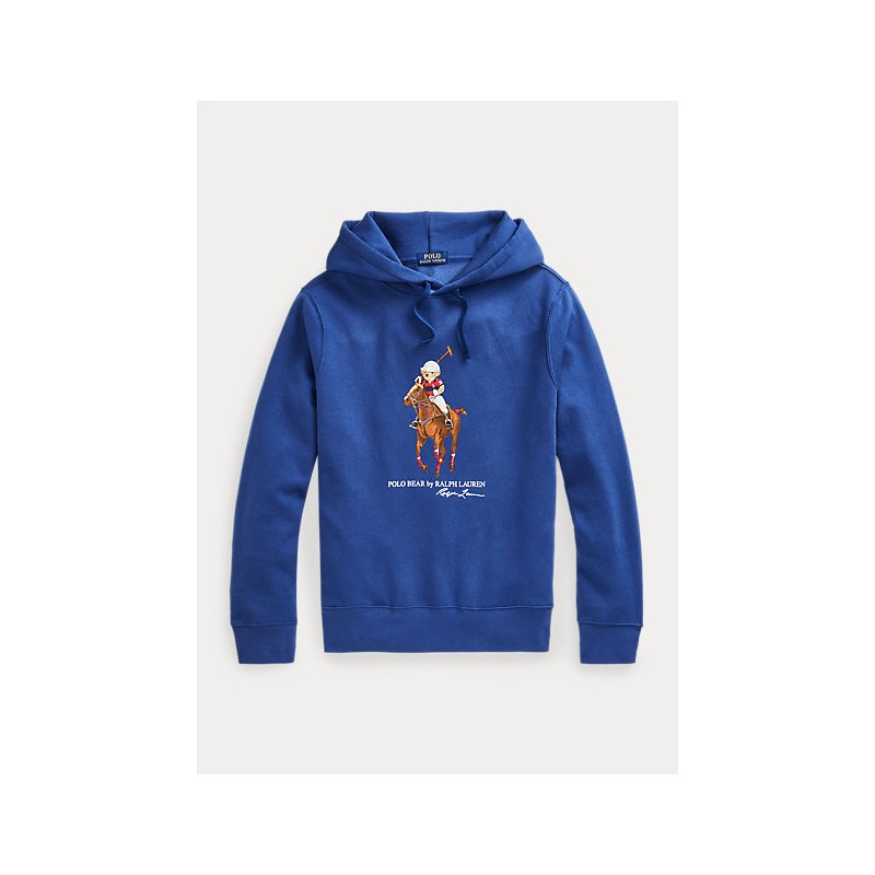 POLO RALPH LAUREN - Polo Bear and Big Pony hoodie 710853309 - Blue