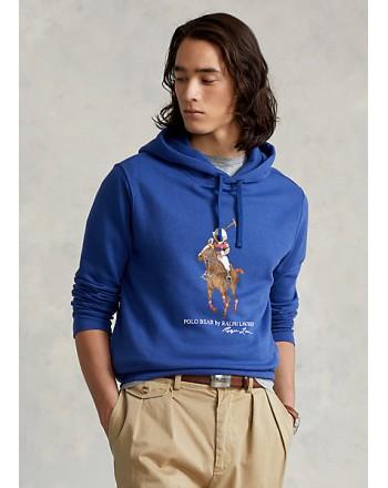 POLO RALPH LAUREN - Felpa con cappuccio Polo Bear e Big Pony 710853309 - Blu