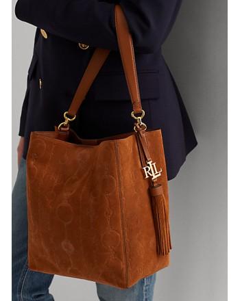 POLO RALPH LAUREN - ADLEY Medium Shoulder Bag -Lauren Tan