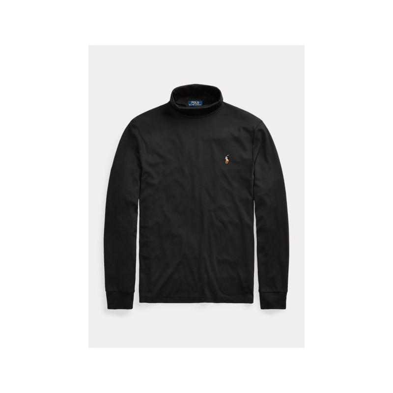 POLO RALPH LAUREN - Soft cotton turtleneck 710760126 - Black