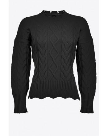 PINKO - CHIANTI Pullover - Black