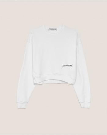 HINNOMINATE - Felpa con Logo - Bianco