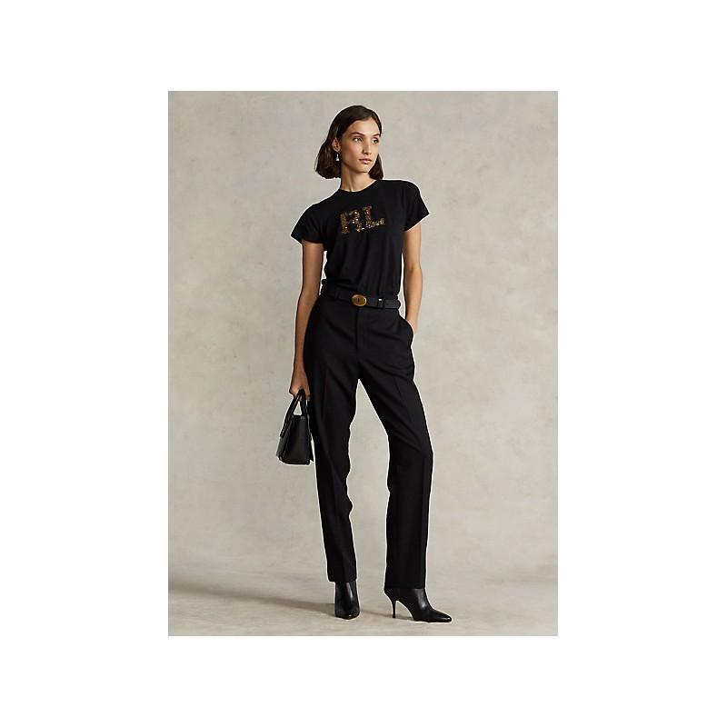 POLO RALPH LAUREN KIDS - Paillettes Logo T-Shirt - Black