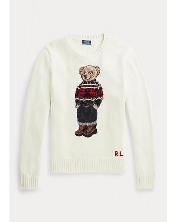 POLO RALPH LAUREN KIDS - POLO BEAR SKI Knit - Cream