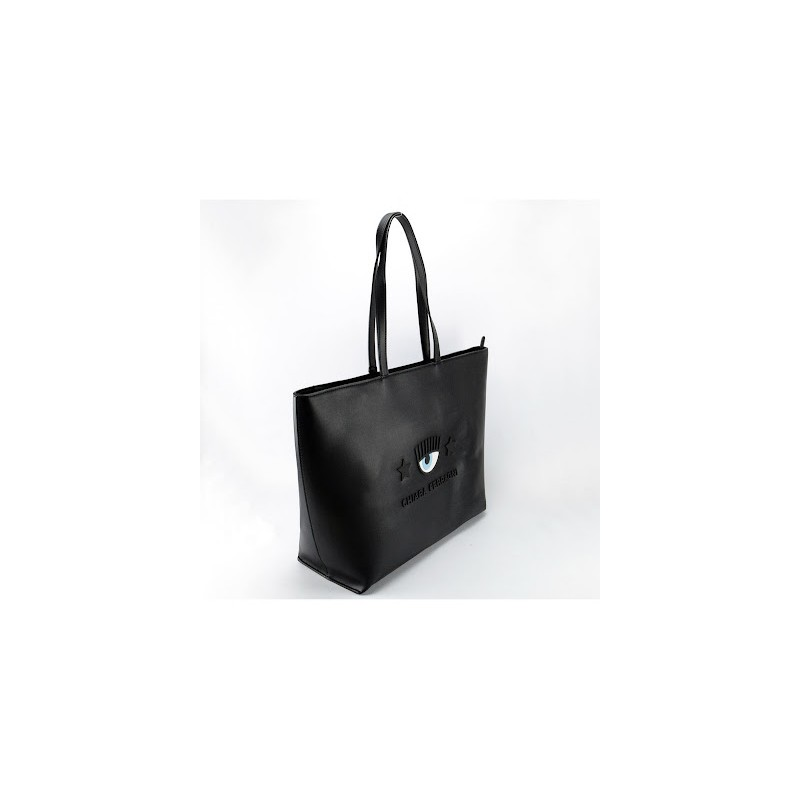 CHIARA FERRAGNI - MICROINJECTION Shopping Bag - Black