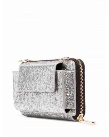 CHIARA FERRAGNI -Wallet with Strap EYESTAR LOGO - Silver