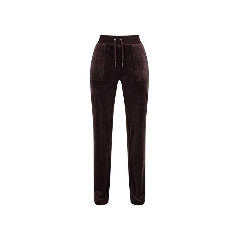 JUICY COUTURE - Pantaloni Velour DEL REY  - Java
