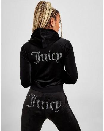 JUICY COUTURE - ROBERTSON DIAMANTE Hoodie - Black