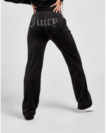 JUICY COUTURE - DEL REY Velour DIAMANTE Joggers - Black