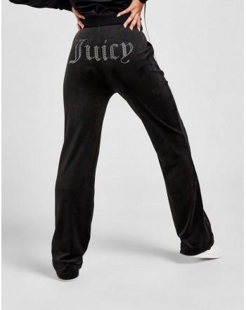 JUICY COUTURE - Pantaloni Velour DEL REY  DIAMANTE - Nero