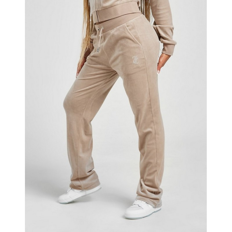 JUICY COUTURE - Pantaloni Velour DEL REY  DIAMANTE - Warm Taupe