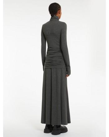 SPORTMAX -  SALICE Double Dress - Blended Grey