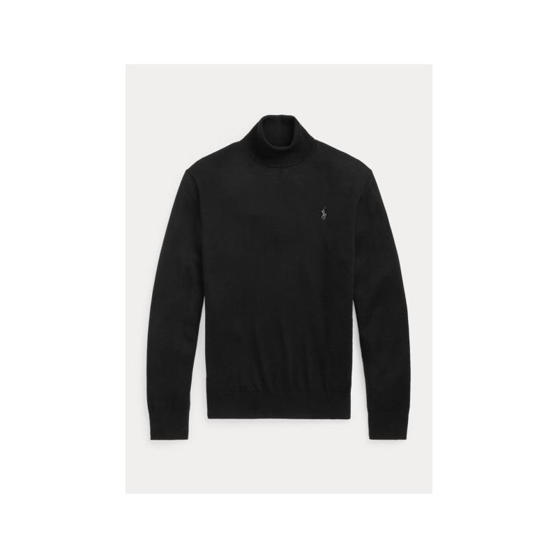 POLO RALPH LAUREN - Maglia dolcevita in lana lavabile 710771090 - Nero