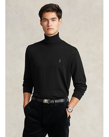 POLO RALPH LAUREN - Washable wool turtleneck sweater 710771090 - Black