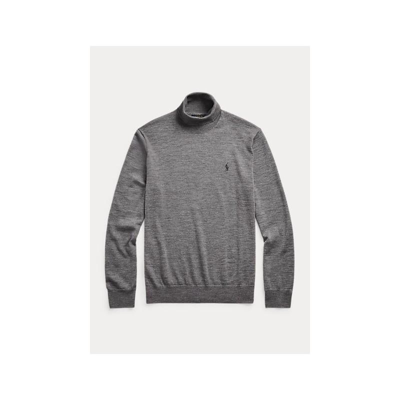 POLO RALPH LAUREN - Maglia dolcevita in lana lavabile 710771090 - Grigio