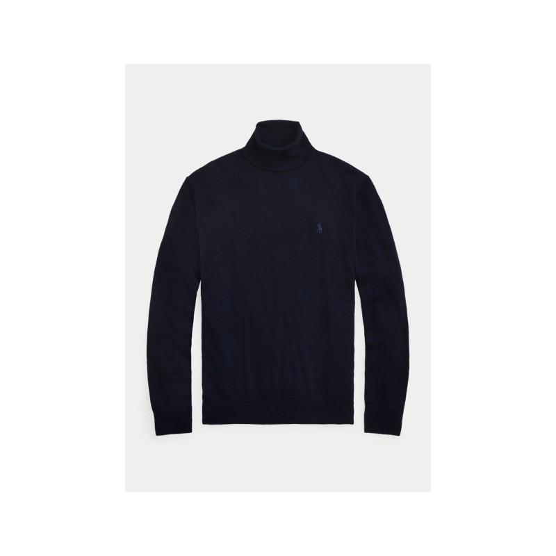 POLO RALPH LAUREN - Maglia dolcevita in lana lavabile 710771090 - Navy