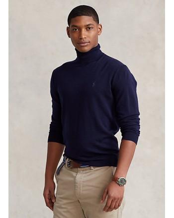 POLO RALPH LAUREN - Washable wool turtleneck sweater 710771090 - Navy
