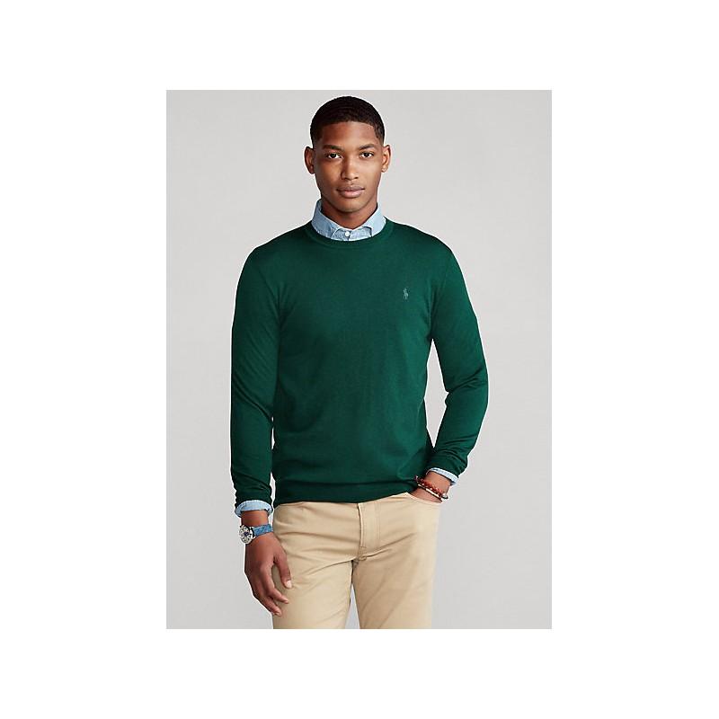 POLO RALPH LAUREN - Maglia in lana lavabile girocollo 710714346 - College green