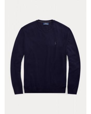 POLO RALPH LAUREN - Washable wool crewneck sweater 710714346 - Navy