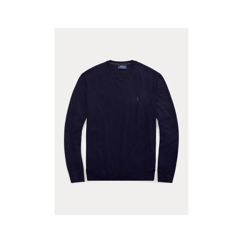 POLO RALPH LAUREN - Maglia in lana lavabile girocollo 710714346 - Navy