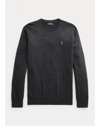 POLO RALPH LAUREN - Washable wool crewneck sweater 710714346 - Black