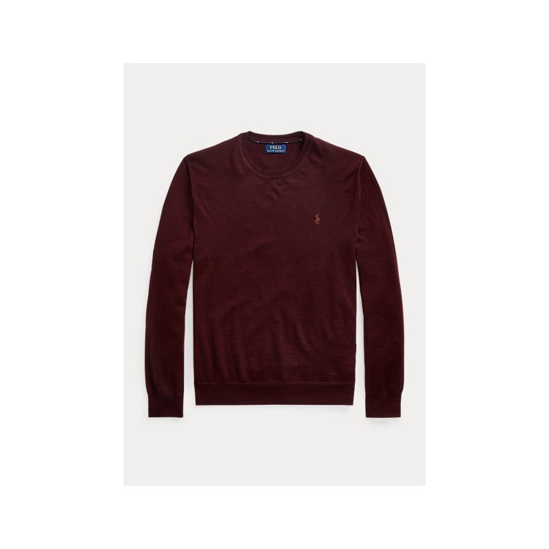 POLO RALPH LAUREN - Maglia in lana lavabile girocollo 710714346 - Ruby Heather