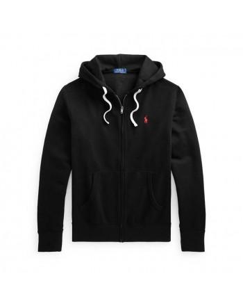 POLO RALPH LAUREN - Sweatshirt with zip and hood 710813297 - Black