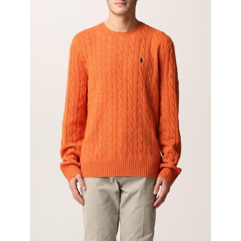POLO RALPH LAUREN - Maglia Polo Ralph Lauren lana e cashmere 710719546 - Orange