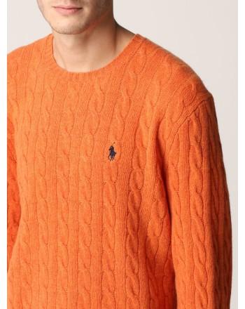 POLO RALPH LAUREN - Polo Ralph Lauren wool and cashmere sweater 710719546 - Orange