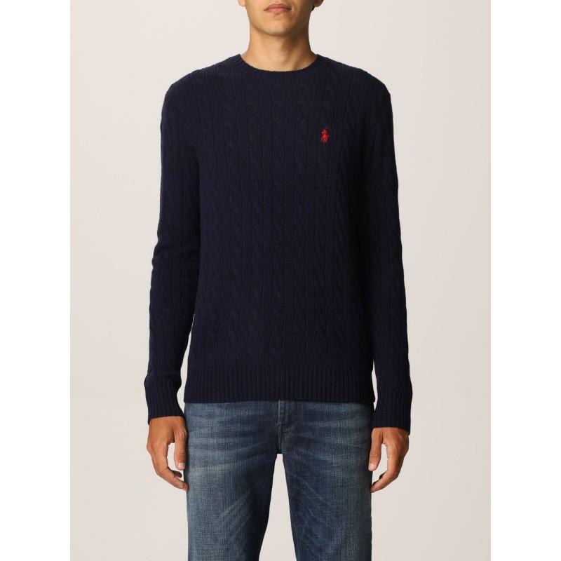 POLO RALPH LAUREN - Polo Ralph Lauren wool and cashmere sweater 710719546 - Navy