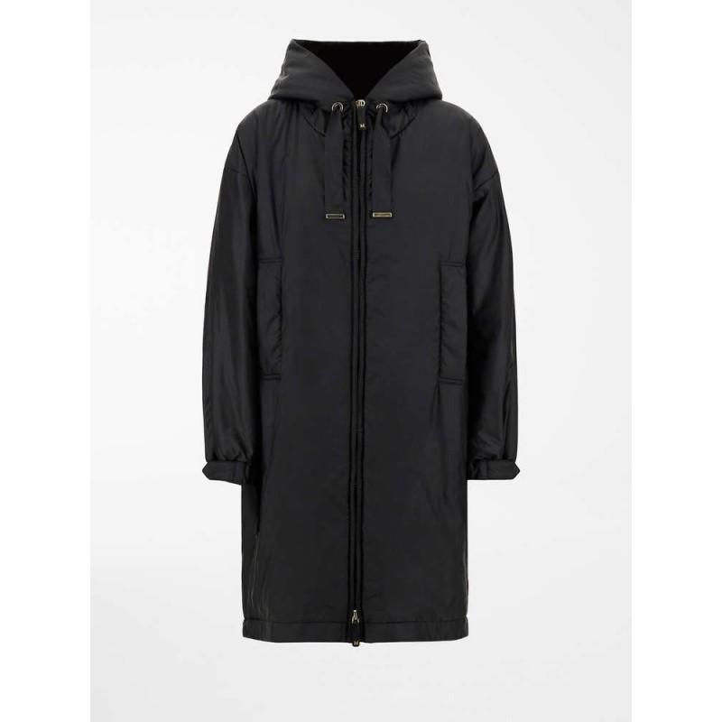MAX MARA THE CUBE - GREENY Rainproof Fleece Coat - Black